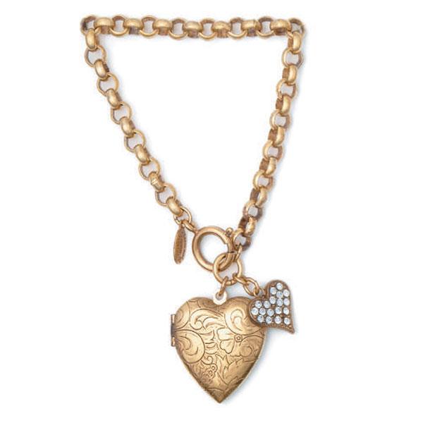 Glass Charm Bracelets Glass Heart Charm Bracelet